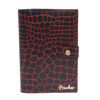 ''Dark Chestnut Bi-Fold'' – Crocodile Pattern Passport Cover