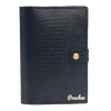 ''Ophidian Asphalt Black Bi-Fold'' – Snake Pattern Passport Cover