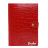 ''Rose Red Bi-Fold'' – Crocodile Pattern Passport Cover