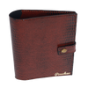 ''Ophidian Earth Brown Bi-Fold'' - Snake Pattern Passport Cover