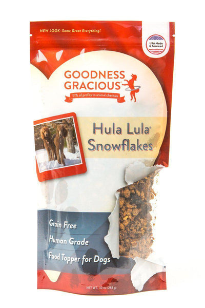 Goodness Gracious Human Grade Hula Lula Snowflakes- Food Topper for Dogs