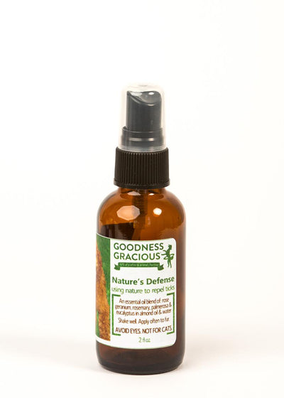 Goodness Gracious All Natural Nature's Defense Tick Repel for Dogs 2oz.