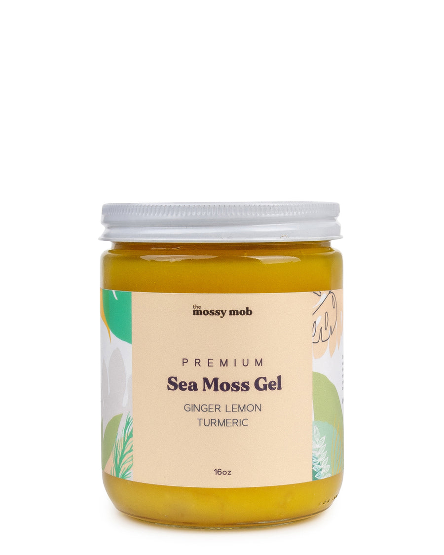 Ginger, Lemon and Turmeric Wildcrafted Raw Irish Sea Moss Gel