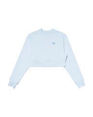 Cozy Crop Sweatshirt BLUE