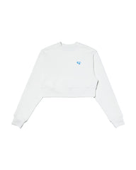 Cozy Crop Sweatshirt WHITE