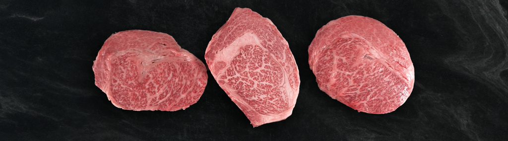 Picture of different Japanese Kobe Beef cuts