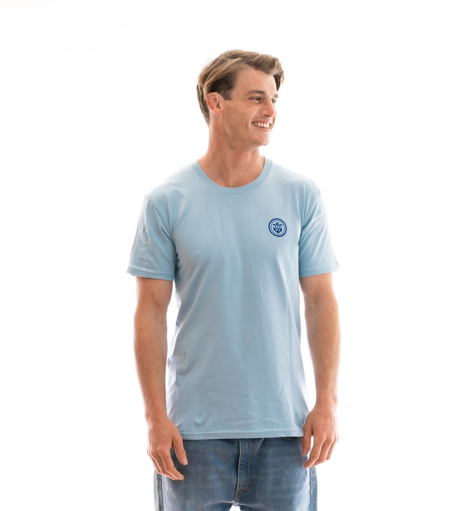 Anchor t-shirt mens light blue