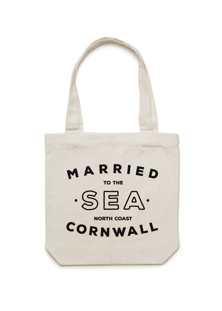 Natural shopper bag Married to the sea
