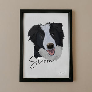 Load image into Gallery viewer, Hand-Drawn Dog Portrait Print