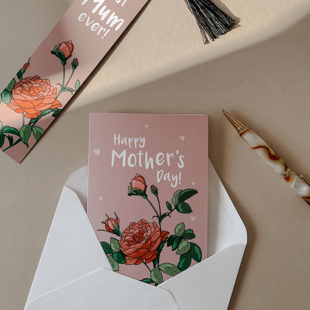 Illustrated Rose Mother's Day Card
