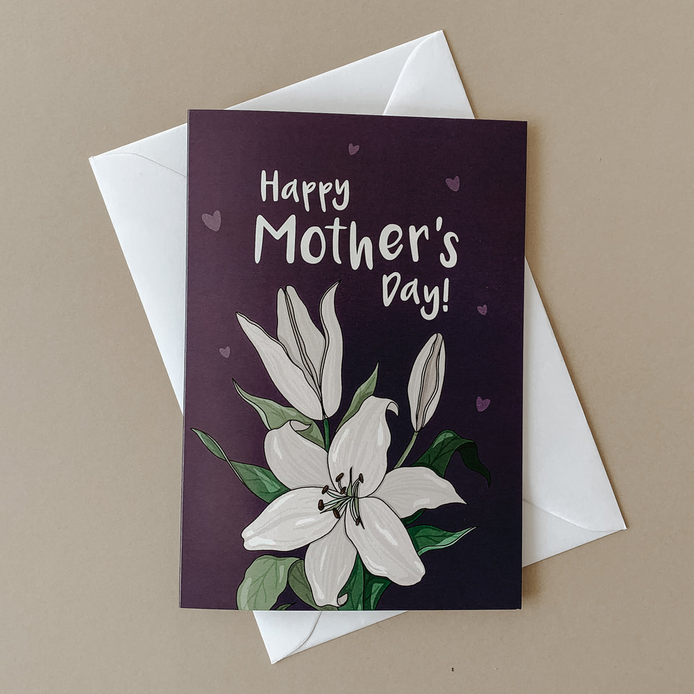 Illustrated Lily Mother's Day Card