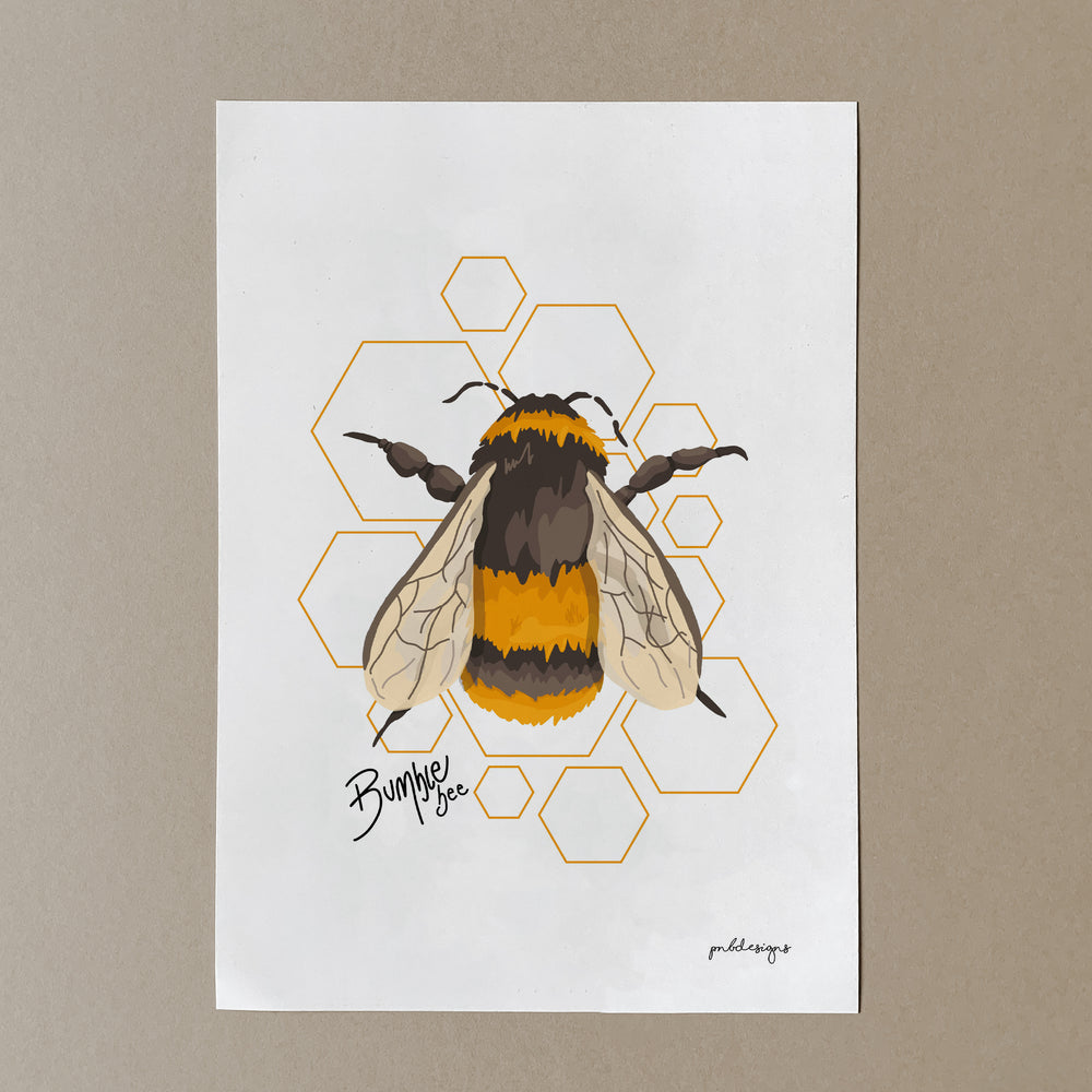 Bumble Bee Print - A4