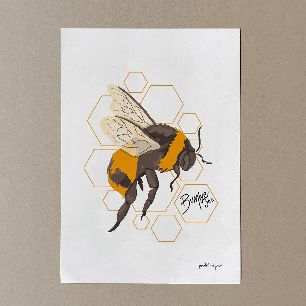 Bumble Bee Side-Facing Print - A4