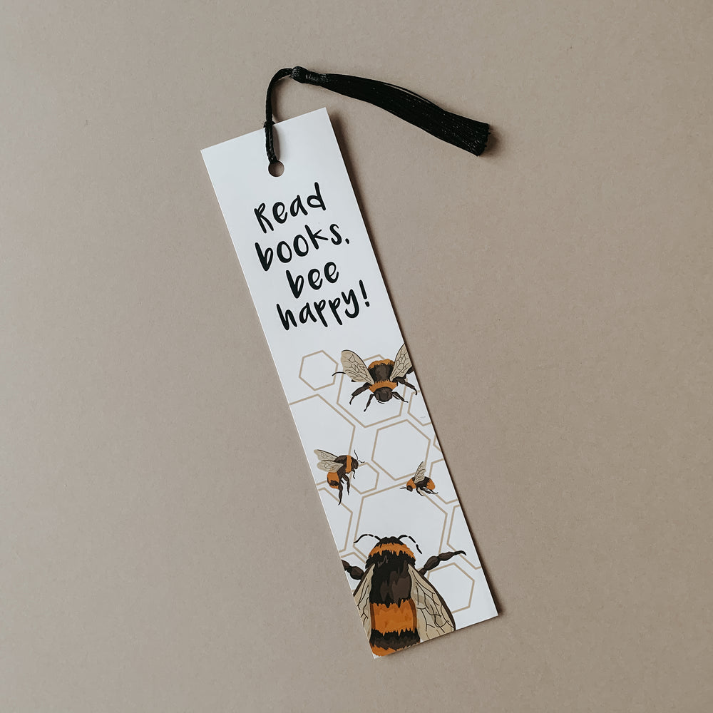 Read Books, Bee Happy. - Bumble Bee Bookmark