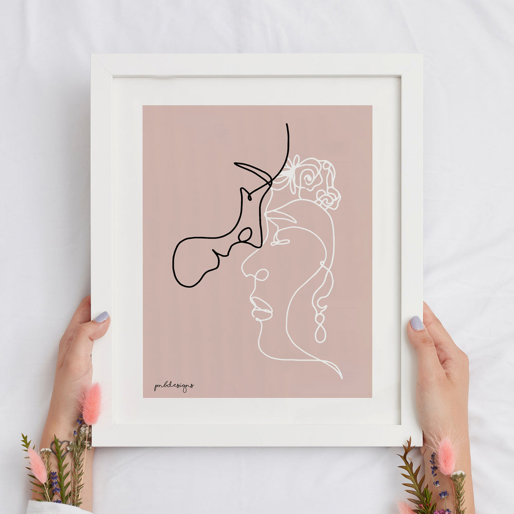 'Couple in Love' Art Print - A4