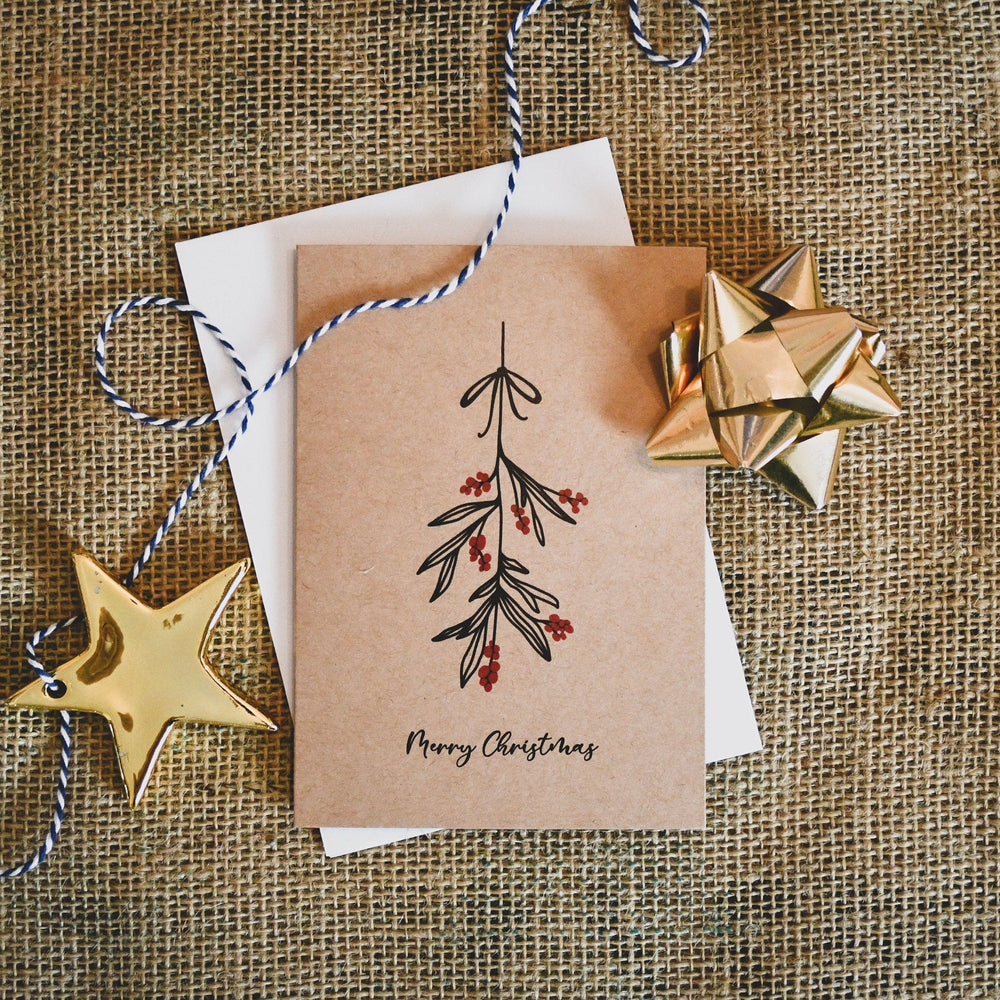 Christmas Mistletoe Card