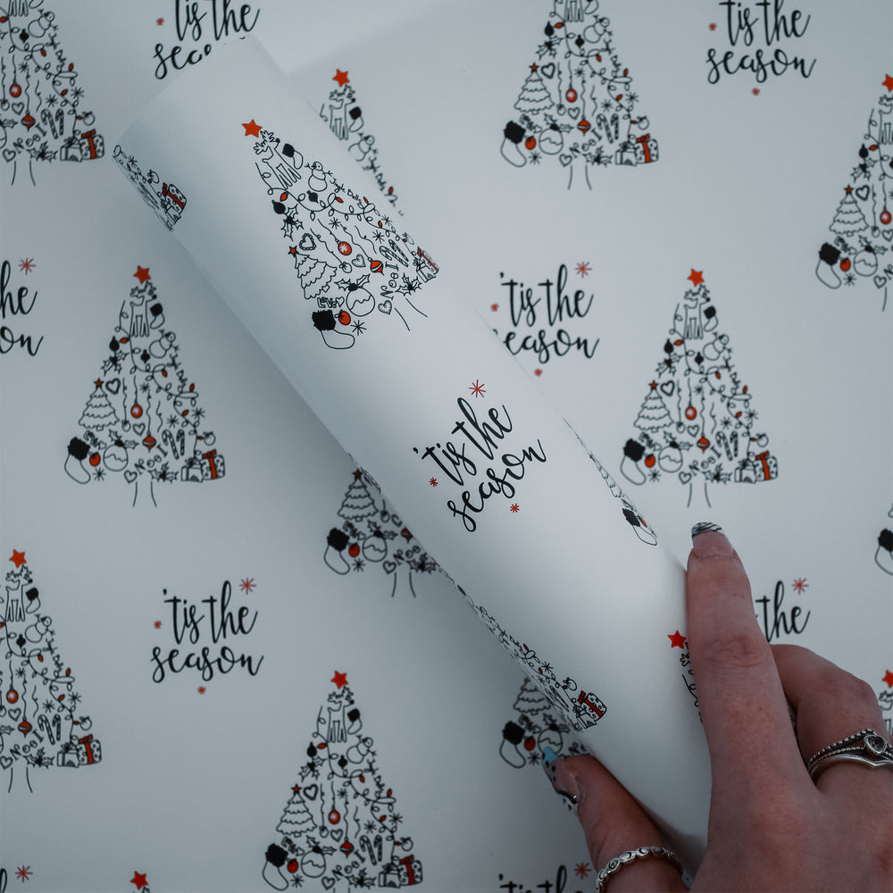 Tis' the Season Christmas Wrapping Paper & Gift Tags