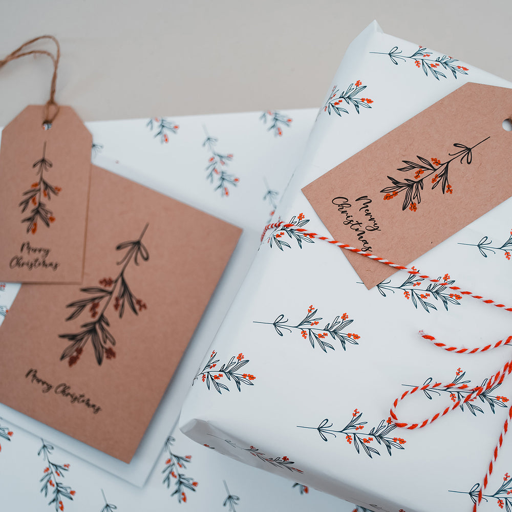 Christmas Mistletoe Wrapping Paper & Gift Tags
