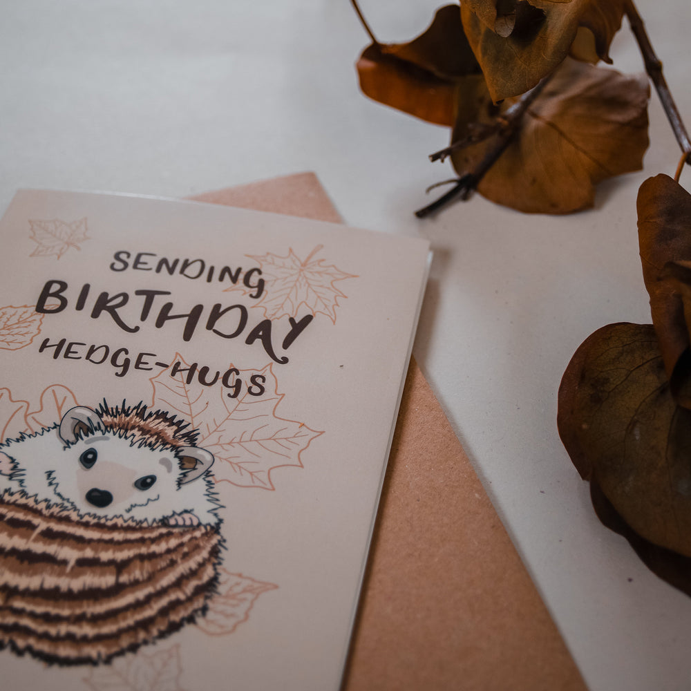 Load image into Gallery viewer, Sending Birthday Hedge-hugs Card