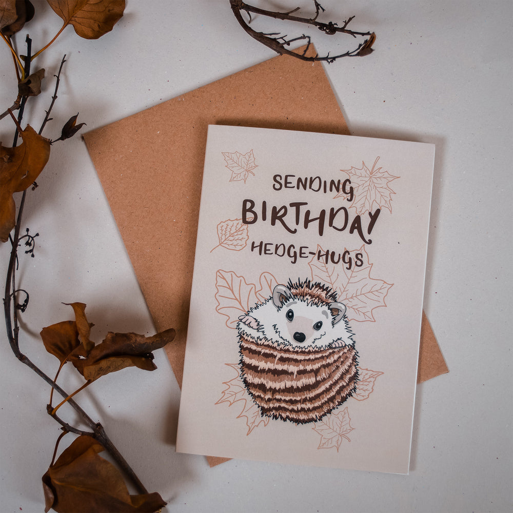 Sending Birthday Hedge-hugs Card