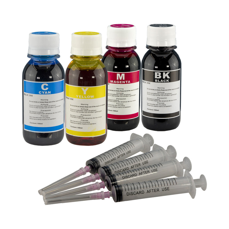 4 pack 100 ML Refill ink for HP 98/99