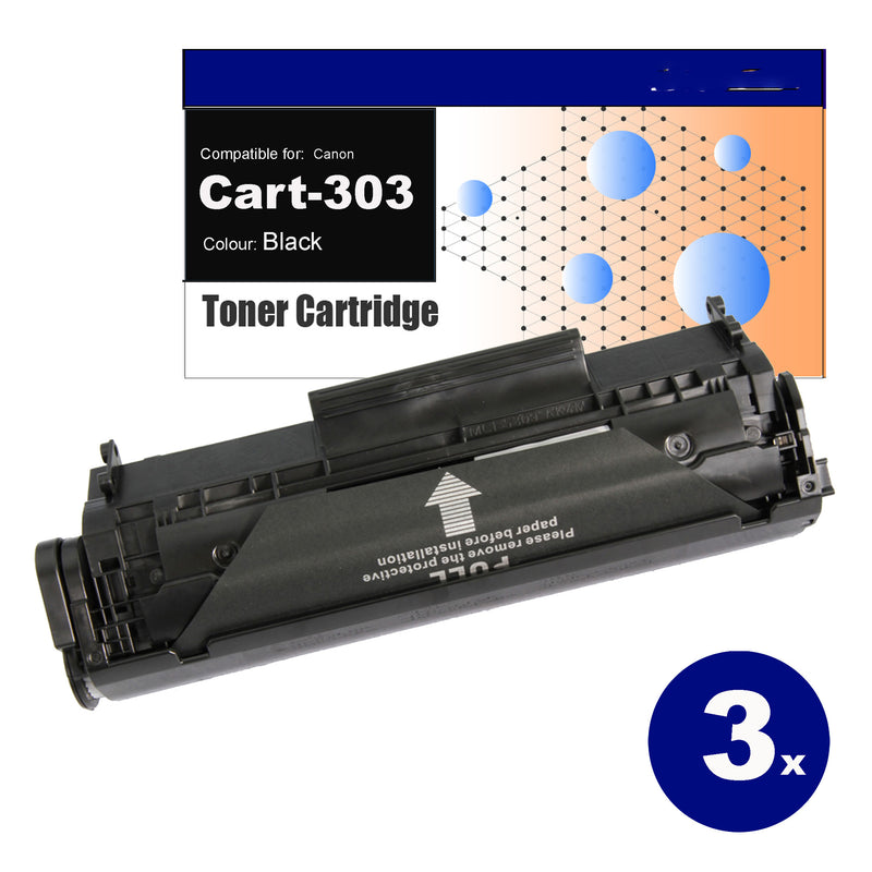 3 Pack Compatible Toner for Canon CART-303 Black Toner Cartridges