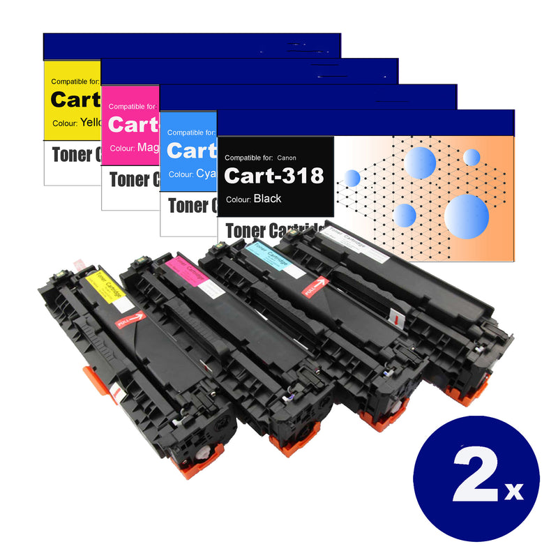 8 Pack Compatible Toner Cartridges for Canon Cart-318