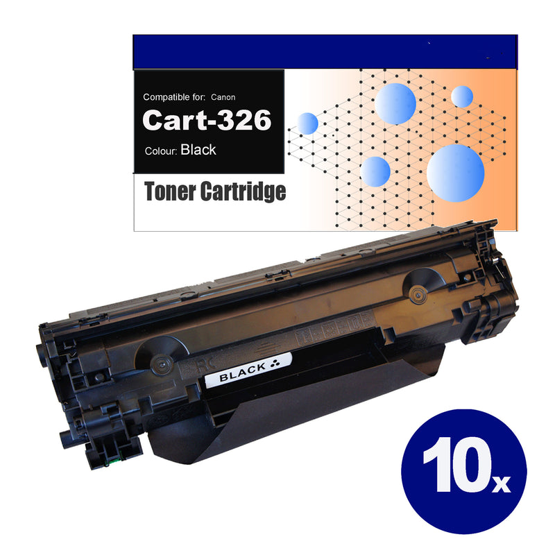 10 Pack Compatible Toner for Canon CART-326 Black Toner Cartridges