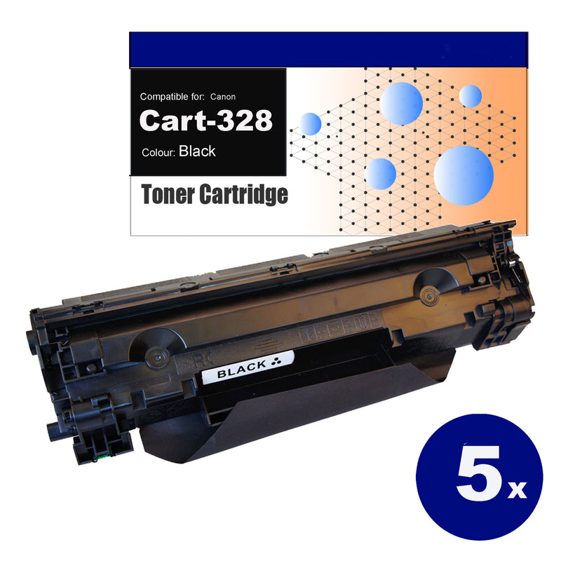 5 Pack Compatible Toner for Canon CART-328 Black Toner Cartridges