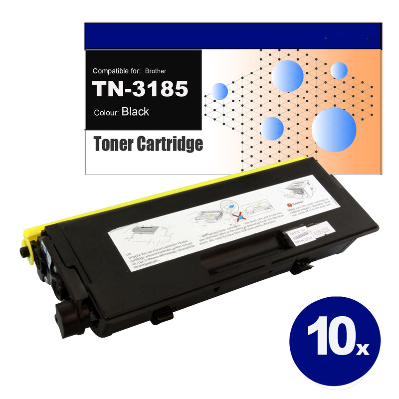 10 Pack Compatible Toner for Brother TN-3185 Black Toner Cartridges