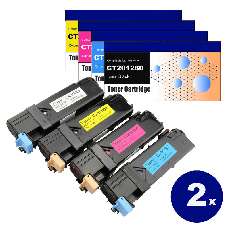 8 Pack Compatible Toner Cartridges for Fuji Xerox CT201260 / CT201261 / CT201262 / CT201263 (C1190)