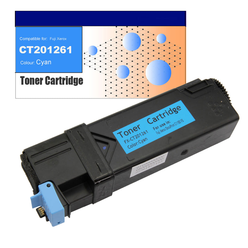 Compatible Toner for Fuji Xerox CT201261 (C1190) Cyan Toner Cartridges