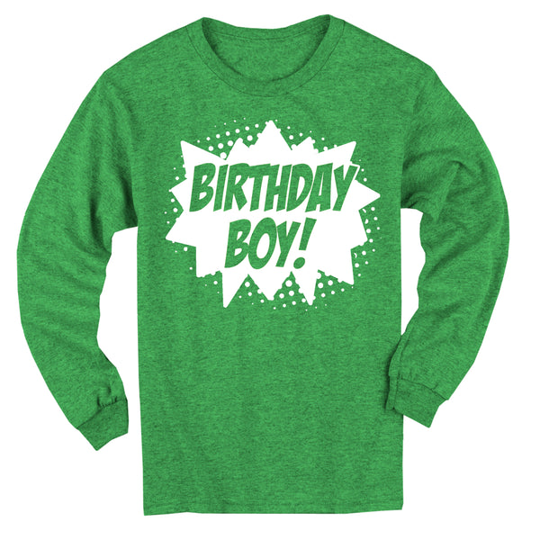 Superhero Birthday Boy! Long Sleeve T-Shirt