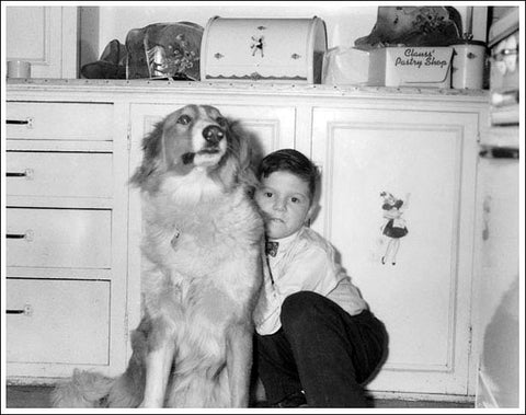 John, age 6, with his dog Duke