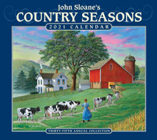 Load image into Gallery viewer, John Sloane's Country Seasons 2021 Deluxe Wall Calendar