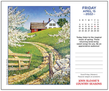 Load image into Gallery viewer, John Sloane's Country Seasons 2022 Day-to-Day Calendar