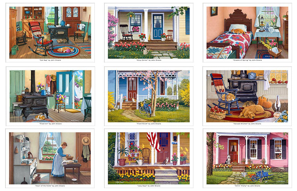 Around the House Postcard Set