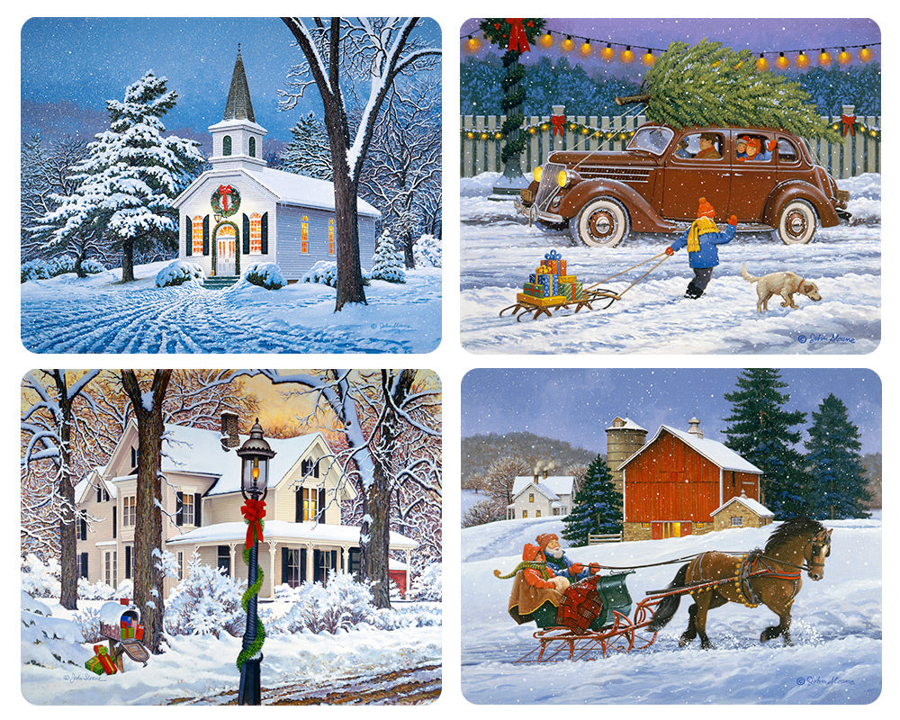 Classic Christmas Magnet Set