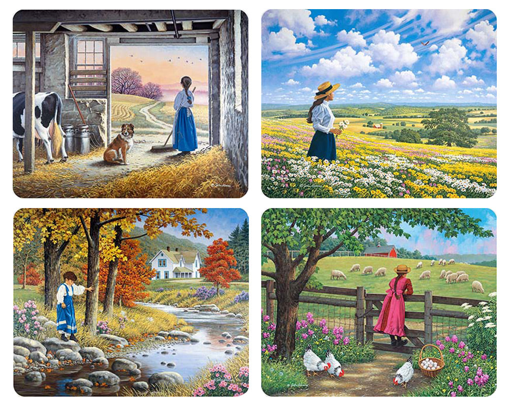 Country Girls Magnet Set