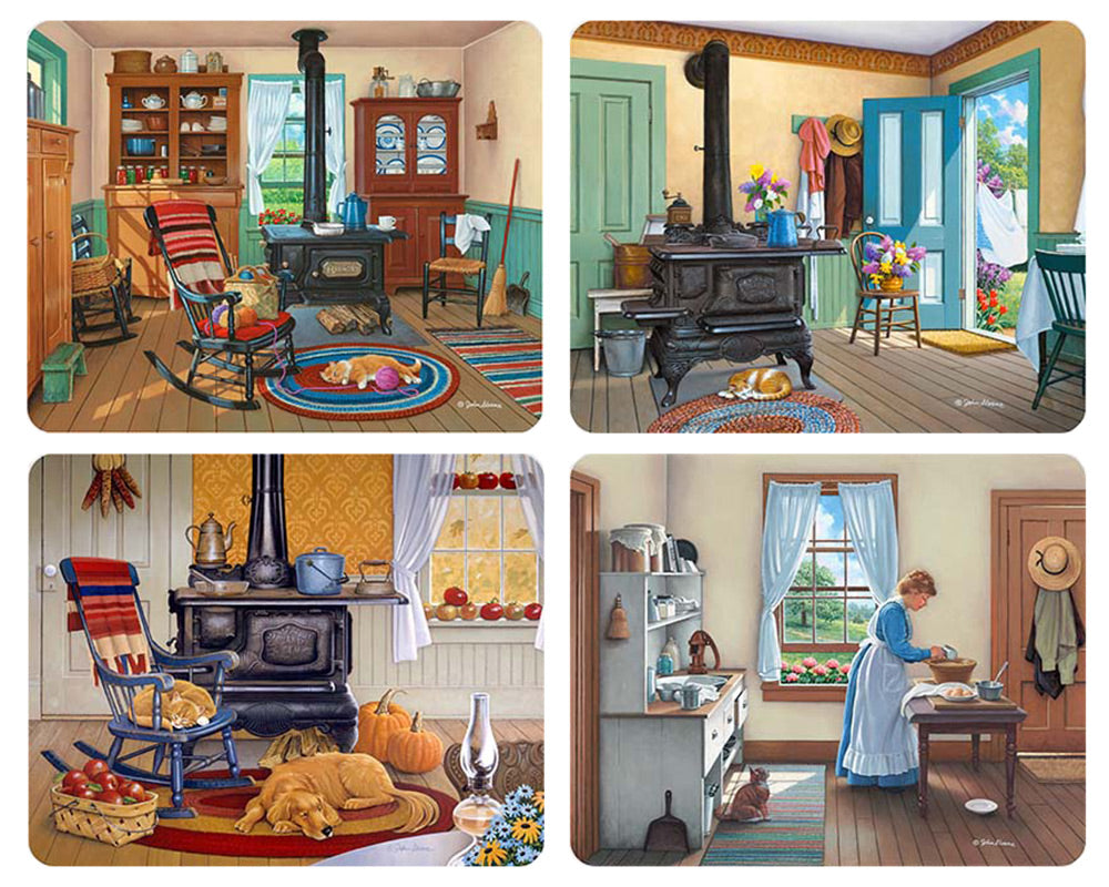 Country Kitchens Magnet Set