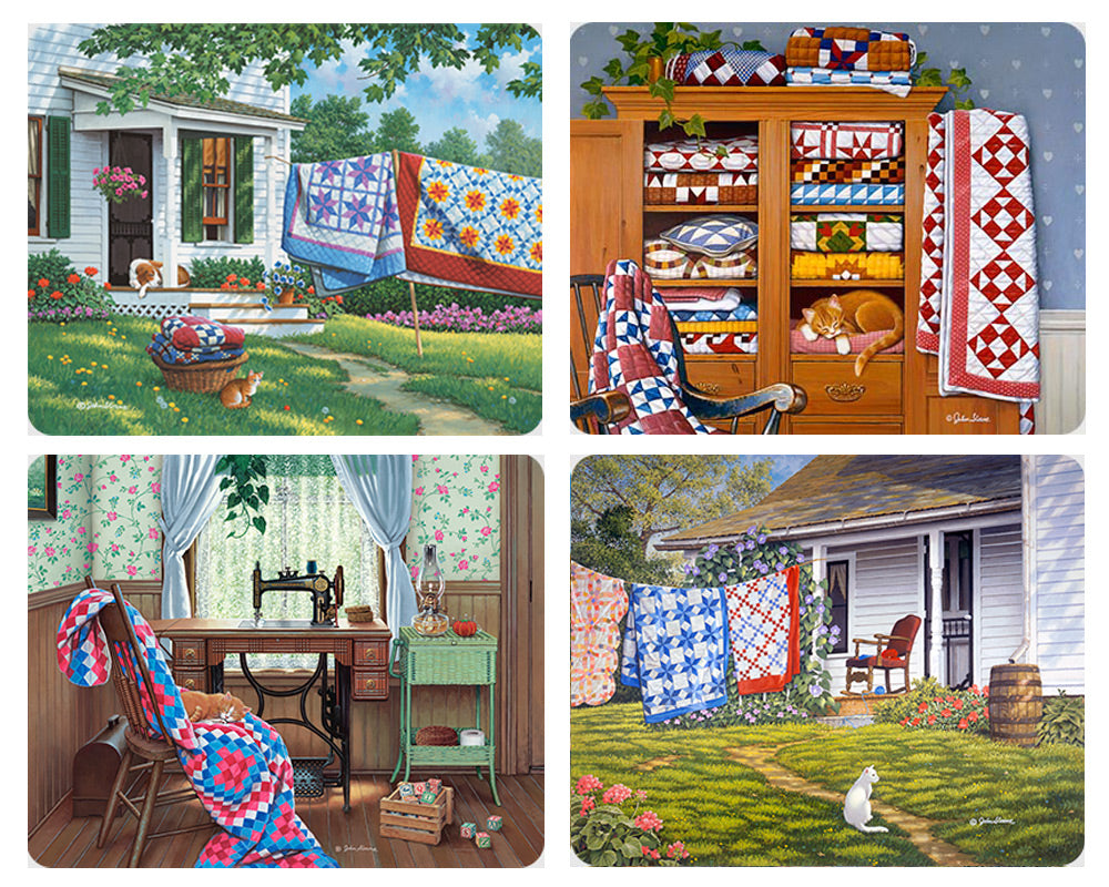 Country Quilts Magnet Set