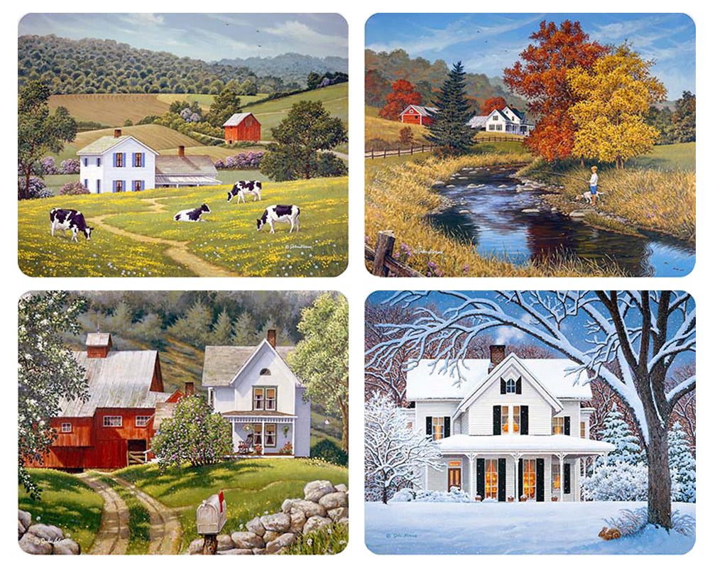 Country Seasons Magnet Set