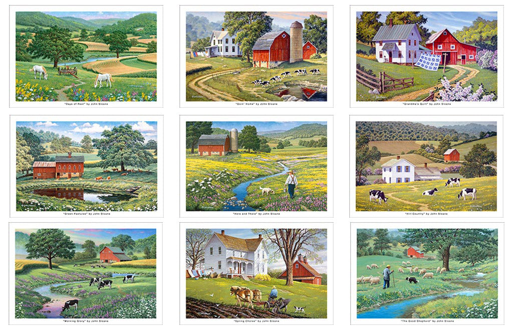 Farm Scenes Postcard Set