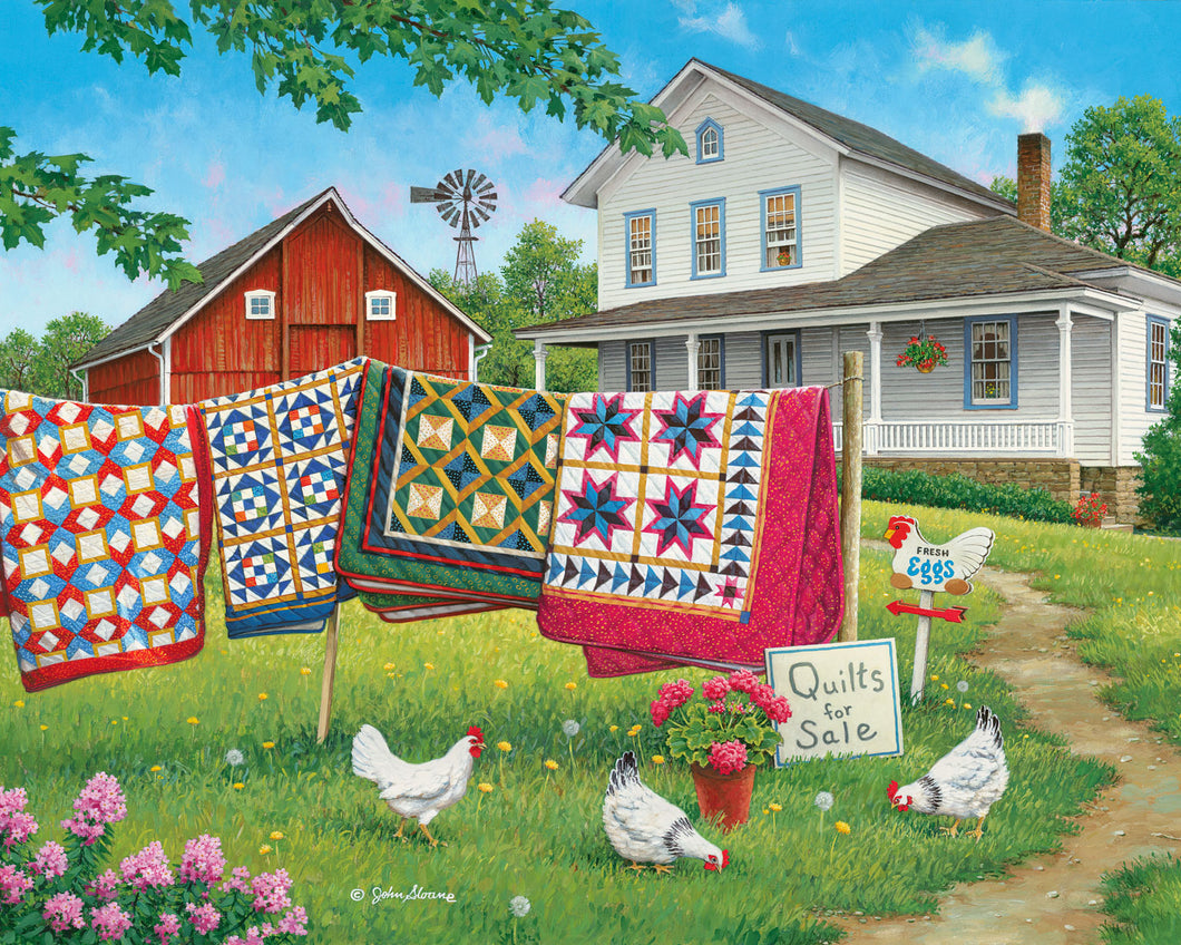 Fresh Eggs and More - Puzzle by John Sloane