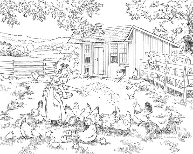 John Sloane's Coloring Pages - Sample Page