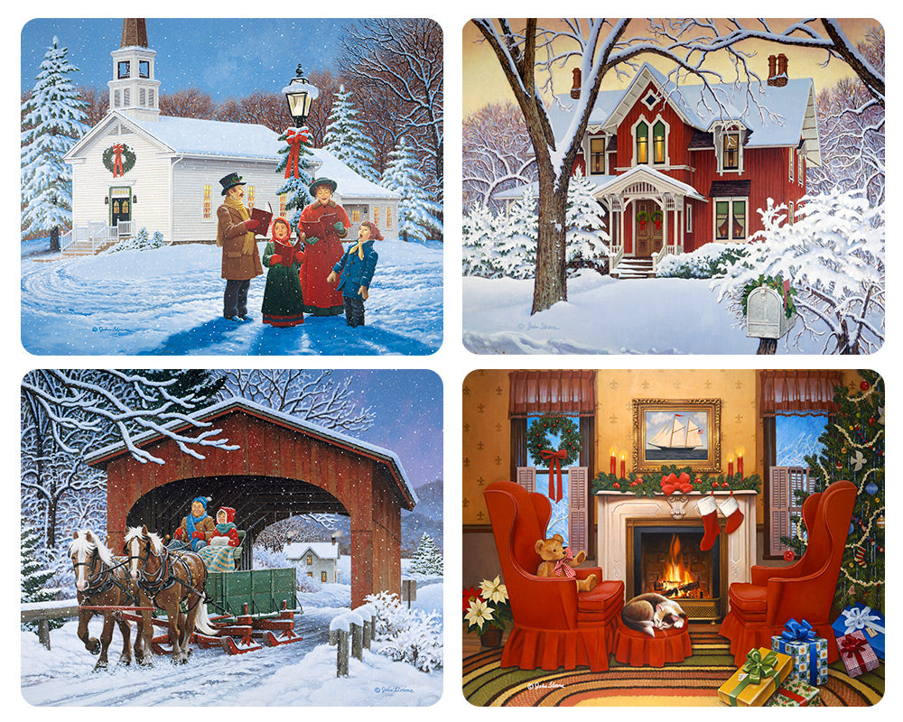 Old Fashioned Christmas Magnet Set