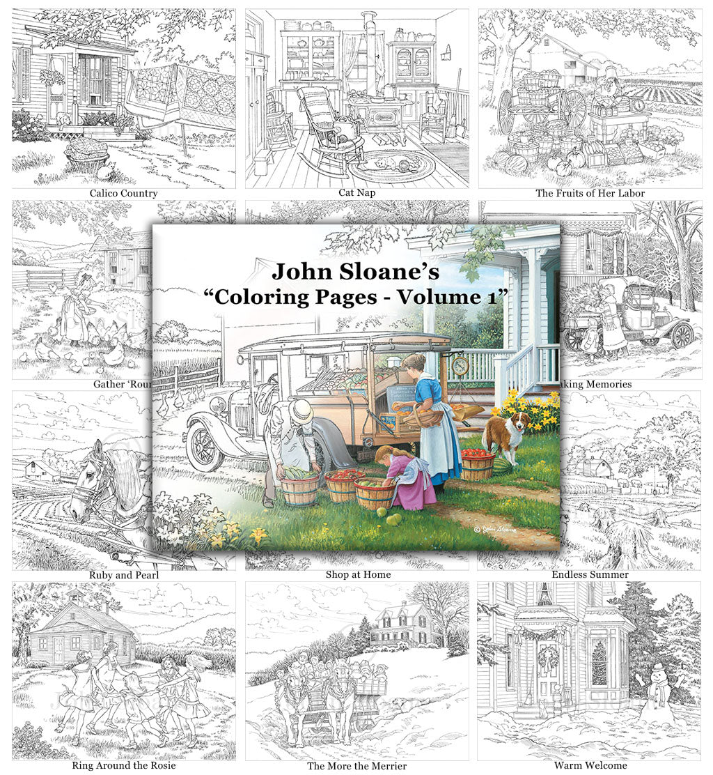 John Sloane's Coloring Pages - Volume 1