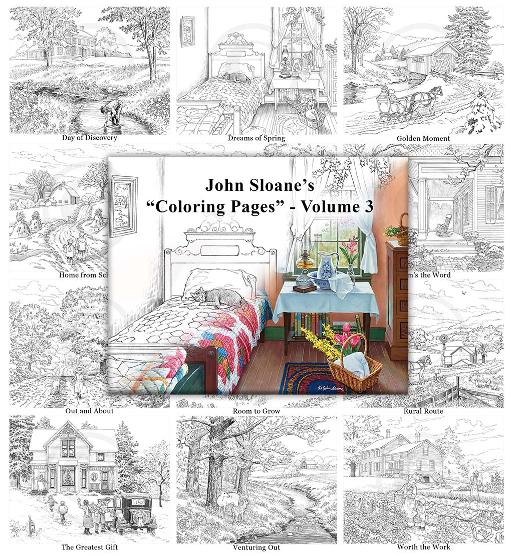John Sloane's Coloring Pages - Volume 3
