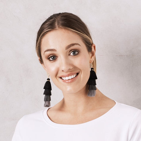 Camilla Earrings Black