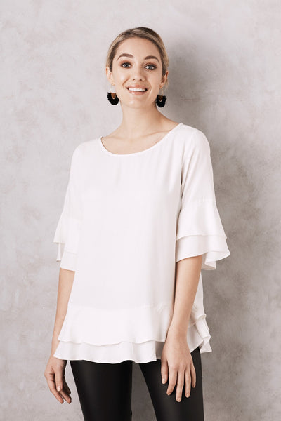 Mia Top White